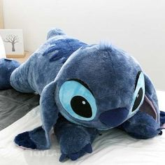 "Disney Stitch Doll 47"" Plush Lying Cushion Girl Lilo and Stitch Toy BRAND NEW #Disney"