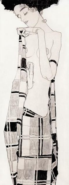 Egon Schiele  Hard to know... shape... sure, space too.