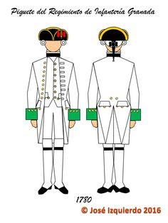 Piquete de refuerzo del Regimiento de Infantería Granada (peninsular) enviado desde México