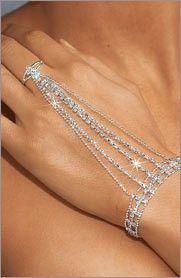 Frederick's of Hollywood - Rhinestone Hand Jewelry                                                  Re-Pinned By: Steve Augle Pro Photographer Open To Shoot All Art,