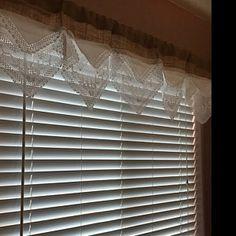 Custom Vintage Lace Burlap ValanceLavander Mint & Gold Sequin | Etsy Burlap Shower Curtains, Burlap Valance, Tie Up Curtains, Hanging Curtains, Shabby Vintage, Vintage Lace, Vintage Crochet, Antique Lace, Crochet Lace