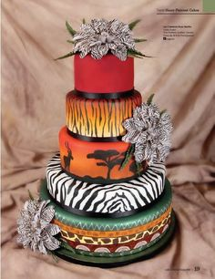 african beauty - by rosevanille @ CakesDecor.com - cake decorating website