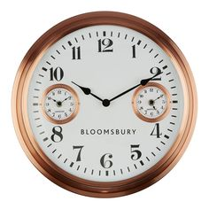 Funkpopart offers Scandi style home accessories, lights and clocks for Scandinavian styled homes with free UK delivery. This Copper finish wall clock is a classic style featuring world times and simple figure display. A beautiful addition to any room this will work well in a scandi style.