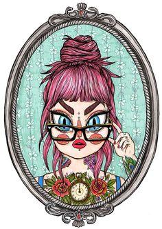 Mirror Mirror print by GemmaFlack on Etsy