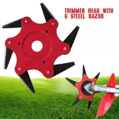 6 Steel Razor Blade Lawn Mower - Tears Through Tough Grass Like Bear Claws Garden Power Tools, Power Tool Accessories, Red Green Yellow, Cool Gadgets, Lawn Mower, Tractor Mower, Blade, Cool Stuff, Tired