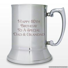 Personal Touch Gifts - Stainless Steel Bold Message Tankard, £29.99 (http://personaltouchgifts.co.uk/stainless-steel-bold-message-tankard/)