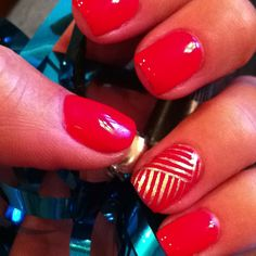 Cute and simple nail design...