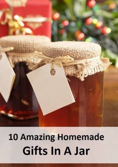 0 Amazing Homemade Gifts In A Jar http://healthandnaturalliving.com/10-amazing-homemade-gifts-jar/  Gifts in a jar are fun, frugal and original. Everyone will love receiving them and here are ten amazing gifts you can make and give!