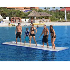 The Inflatable Walk On Water Mat.