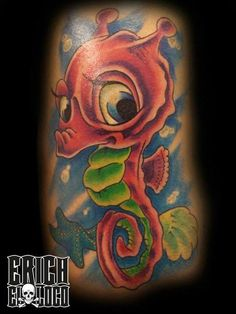 Tattoo Seepferd Seehorse
