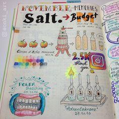 Bullet Journal November Erinnerungen