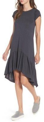 Shop Now - >  https://api.shopstyle.com/action/apiVisitRetailer?id=656835515&pid=uid6996-25233114-59 Women's Cotton Emporium Ruffle Hem Knit T-Shirt Dress  ...