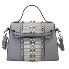26.40$  Buy here - https://alitems.com/g/1e8d114494b01f4c715516525dc3e8/?i=5&ulp=https%3A%2F%2Fwww.aliexpress.com%2Fitem%2F2016-Winter-New-Rivet-Women-Handbag-Fashion-America-And-Europe-PU-Shoulder-Bag-Brand-Designer-High%2F32763901818.html - 2016 Winter New Rivet Women Handbag Fashion America And Europe PU Shoulder Bag Brand Designer High Quality Female Crossbody Bag 26.40$