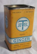 ANTIQUE ADVERTISING STORE SPICE TIN JEWEL T