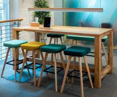 The Dining & Poseur Tables range offers a modern alternative to conventional dining areas or corporate workspaces, very well suited for breakout areas, meeting rooms or shared workspaces. Office Setup, Office Table, Office Meeting, Office Ideas, High Dining Table, Dining Area, Meeting Table, Meeting Rooms, Desk Areas