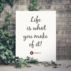So shape it the way you want it! Live fully! #LoveLife https://beespa.com/