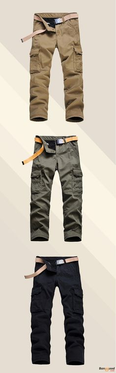 Epic Low Price + Free Shipping. Mens Winter Thick Fleece Multi Pockets Cargo Pants Straight Leg Casual Pants. Time to Refresh Your Wardrobe! >>> To View Further, Visit Now.