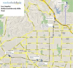 Map Of Hollywood And Beverly Hills Google Search