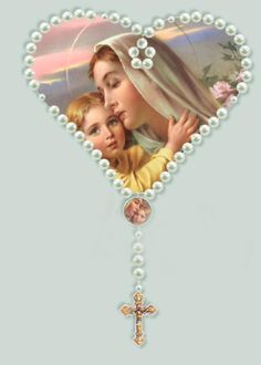 Our Lady asked us to pray the rosary daily for peace in the world.