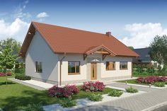 Powierzchnia użytkowa domu Fucjusz 3 wynosi m kw. Facade House, Future House, Shed, Outdoor Structures, House Styles, Outdoor Decor, Home Decor, Bungalows, Houses