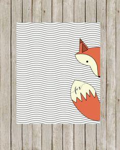 Fox Art Printable // Woodland Nursery Print // Fox Art Print // Fox Nursery Wall Art // Home Decor // Instant Digital Download on Etsy, $5.66 CAD