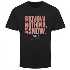 101 Game of Thrones T Shirts | You Know Nothing