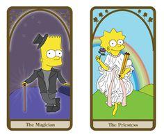 Simpsons tarô cartões   Mentes Perigosas