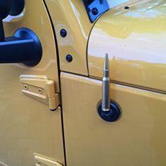 AntennaX 5.5 Inch 50 Caliber Gold Jeep Wrangler Ammo Antenna