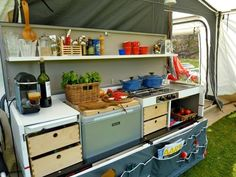 Unbelievable Combi-Camp Valley folding kitchen for automotive 2 Camping Hacks, Camping Food Make Ahead, Camping Meals, Go Camping, Backpacking Food, Camping Stuff, Caravan Awning Interior, Caravan Awnings, Trailer Tent