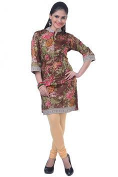 Bole Brown Cotton Printed Casual and Party Kurti Sku Code:12-4685KT690893 US $ 25.00http://www.sareez.com/product_info.php?products_id=156368