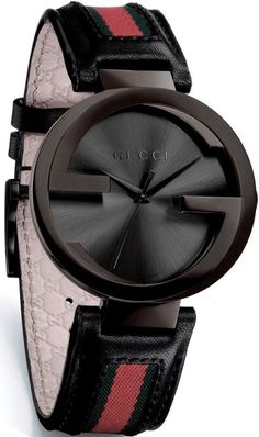 Gucci Women's YA133206 Interlocking Iconic Bezel Anthracite Dial Watch. I LOVE the face of this watch but the band sucks.