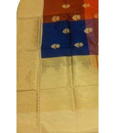 Multicolor handloom Banarasi Pure Silk Saree