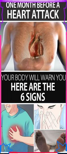 One Month Before a Heart Attack, Your Body Will Warn You � Here Are the 6 Signs
