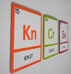 Periodic Table Crafty Art: Awesome