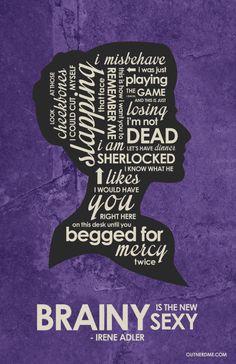BBC Sherlock - Irene Adler Quote Poster