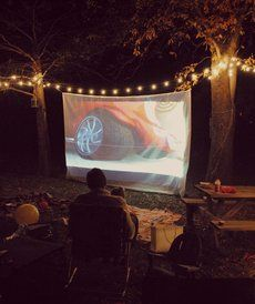 Toddler Talk: Backyard Movie Party - Guests of all ages will love spending a summer evening together outside