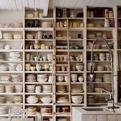 studio shelves/