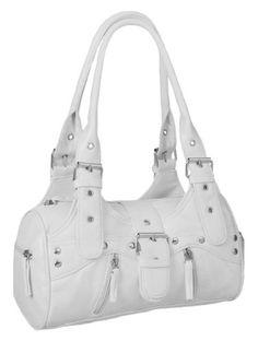 EyeCatchBags - Miami Damen Handtasche Weiss - [ #Germany #Deutschland ] Handbags, HANDTASCHEN [ more details at ... http://deutschdesign.apparelique.com/eyecatchbags-miami-damen-handtasche-weiss/ ]