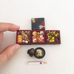Miniature Japanese Food. ❤ dollhouse bento box