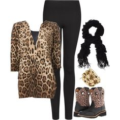 """Leopard fun"" by aurastesia on Polyvore"