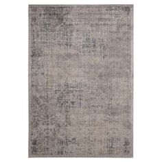 Stylishly anchor your living room or master suite with this artfully crafted rug, showcasing a distressed Persian motif in gray.  Pr...
