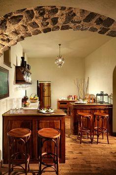 Kitchen at Villa Chantal, luxury holiday villa near Sorrento, Italy