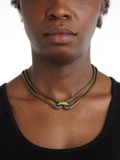 Encrusted Double-Cortina Necklace - Necklaces - Categories - Shop Jewelry | BaubleBar