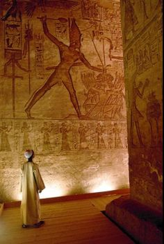 Pharaoh hits his enemies in ancient Egypt