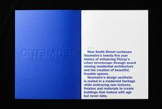 Nine Smith Street brochure for Neometro designed by Studio Hi Ho.