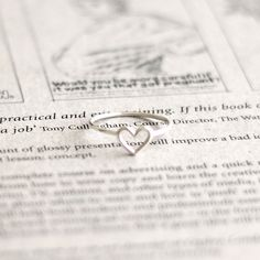 Wire heart ring - Sterling silver