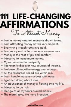 Positive Affirmations Quotes, Wealth Affirmations, Morning Affirmations, Law Of Attraction Affirmations, Affirmation Quotes, Affirmations For Money, Healing Affirmations, Positive Quotes For Life Encouragement, Positive Quotes For Life Happiness