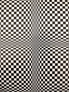 "Edna Andrade American ""Color Motion Oil on Canvas (Detail) Victor Vasarely French ""Vega"" Acrylic on canvas (Detail) . Op Art, Victor Vasarely, White Art, Black And White, Illusion Gif, Photo Images, Magic Eyes, Psychedelic Art, Geometric Art"