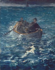 Edouard Manet Paintings, Philadelphia Museum Of Art, Post Impressionism, Traditional Paintings, Seascape Paintings, Illustrations, French Art, Art Techniques, Oeuvre D'art