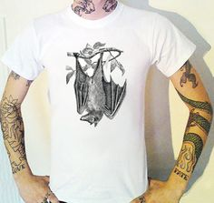 Bat T-Shirt Victoriana Victorian by BUGSPONGE 12.50 GBPWe like bats. A few live in the garden so when we found this Victorian oddity we put it on a T-Shirt